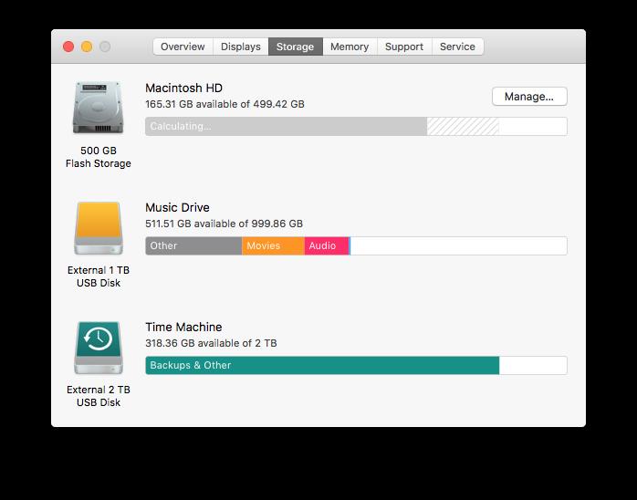 hard drive list