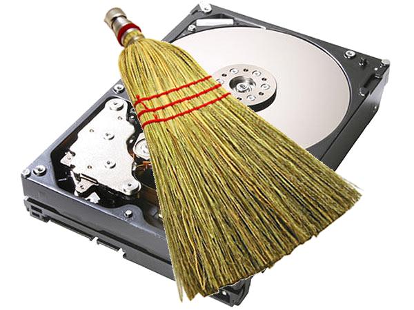 clean hard drive