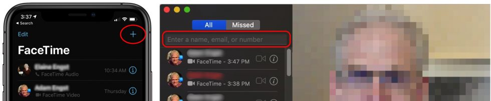 FaceTime instructions on video calls