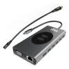 VirtuaDock, 15-in-1, usb-c dock, qi charger, usb, HDMI, ethernet, sd card, tf card